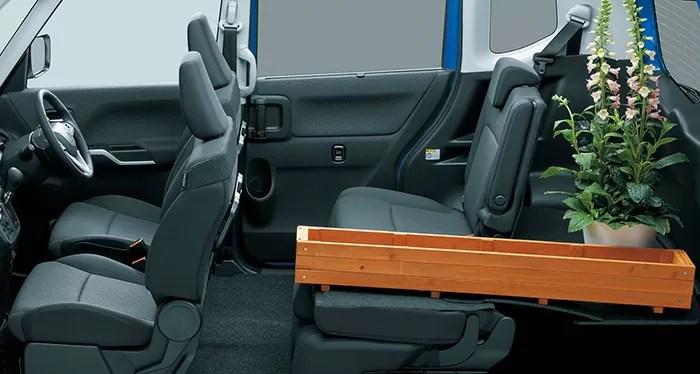 新型デリカD2後部座席シートアレンジ