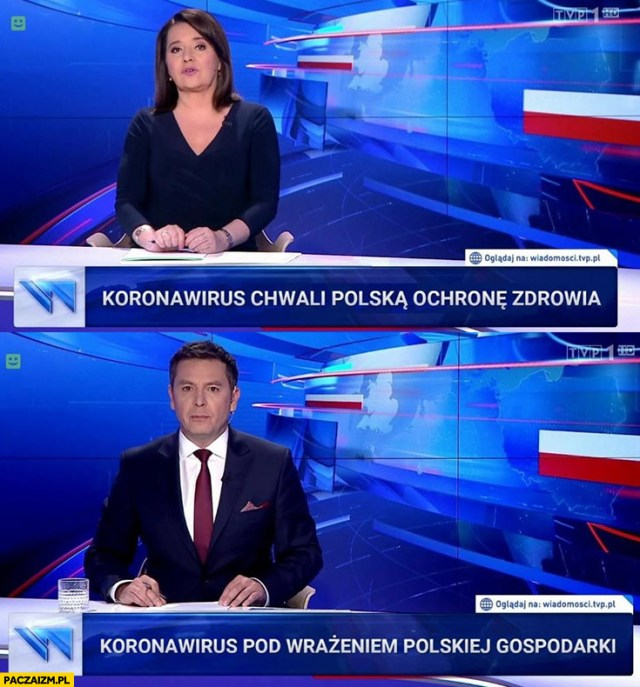 Koronawirus chwali Polską ochronę zdrowia i jest pod wrażeniem polskiej  gospodarki paski Wiadomości TVP - Paczaizm.pl
