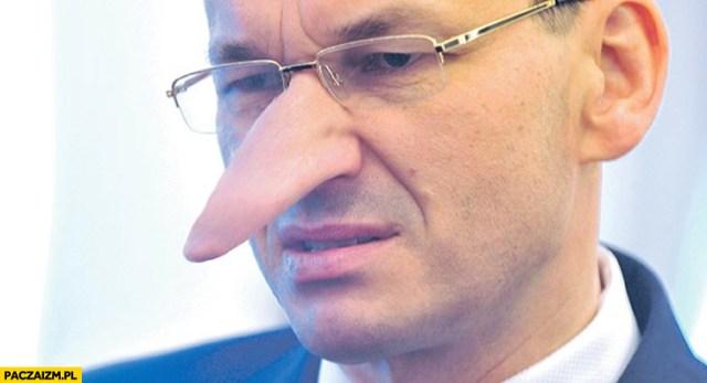 Morawiecki Pinokio długi nos przeróbka - Paczaizm.pl