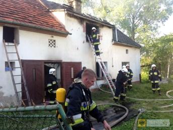 Pożar domu w Kamienicy