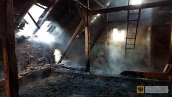 Pożar budynku gospodarczego w Dziewiętlicach