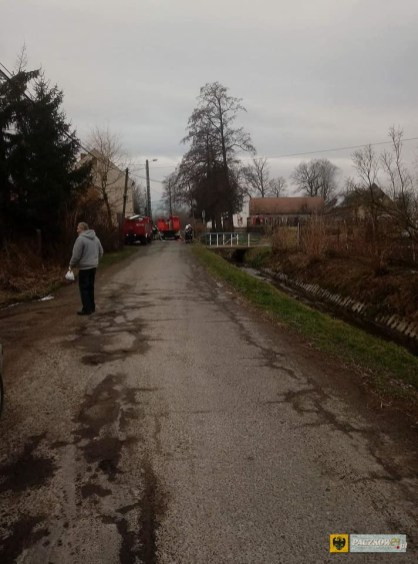 W Unikowicach spłonęła stodoła. Foto: OSP Gościce