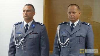Dariusz Dregan (z prawej) nowym Komendantem Powiatowym Policji w Nysie. Foto: UM Nysa; nysa.eu