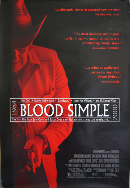 Poster Blood Simple - Sangue facile