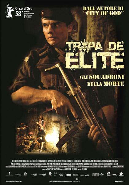 Locandina italiana Tropa de Elite - Gli squadroni della morte