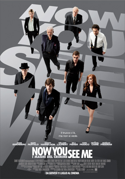 Locandina italiana Now You See Me - I maghi del crimine