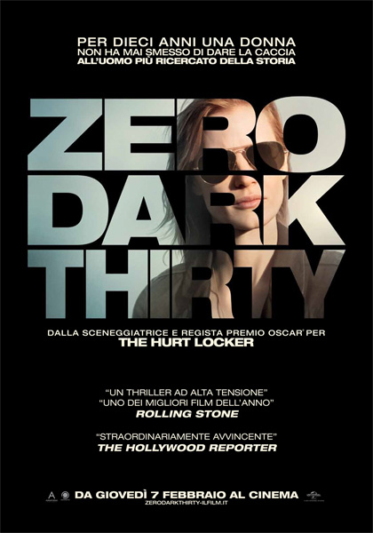 Locandina italiana Zero Dark Thirty