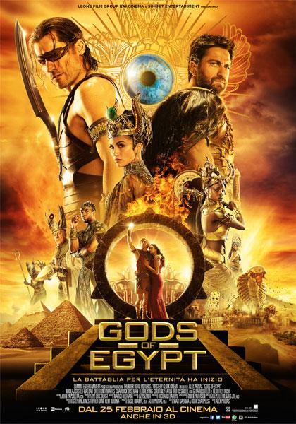 Locandina italiana Gods of Egypt