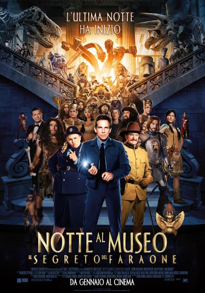 Locandina italiana Notte al museo 3 - Il segreto del faraone