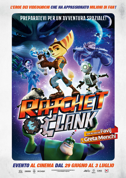 Locandina italiana Ratchet & Clank