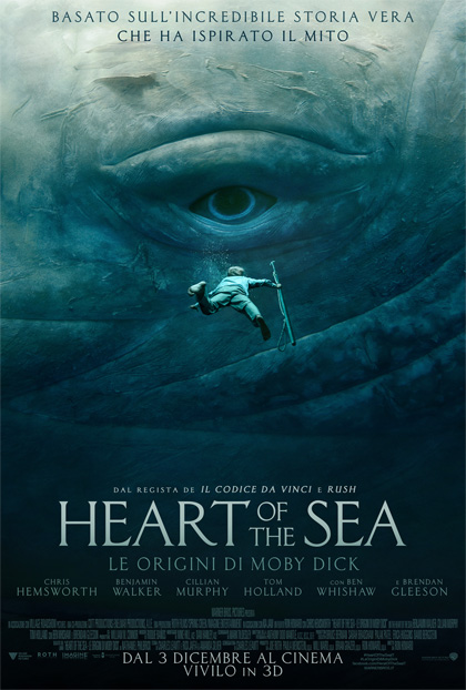 Locandina italiana Heart of the Sea - Le origini di Moby Dick