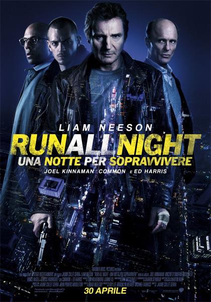 Locandina italiana Run all Night - Una notte per sopravvivere