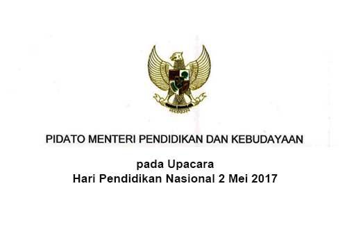 Pidato Hari Pendidikan Nasional 2 Mei 2017