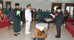 Pelantikan Asrizal Asnan sebagai Pj Walikota Solok. (ist)
