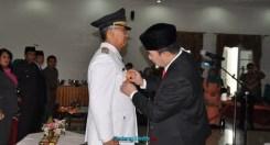 Pj Gubernur Sumbar melantik Pj Walikota Solok, Asrizal Asnan, Senin (31/8). (ist)