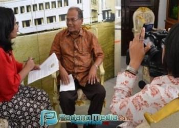 Mantan Walikota Sawahlunto, Amran Nur usai kegiatan temu pusaka di Bogor. (tumpak)
