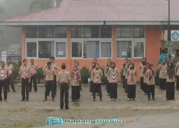 Sejumlah pembina Pramuka Kota Sawahlunto yang akan mengikuti kegiatan Perjusami. (tumpak)