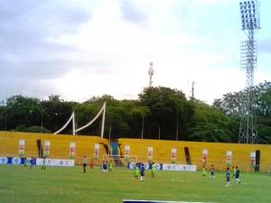 Suasana pembukaan Final Regional AQUADNC 2016 Sumatera Barat di GOR Agussalim, Padang, Sabtu (6/2), (baim)