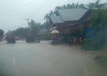 Ini sebagian daerah yang dilanda banjir di Kecamatan Panti Kabupaten Pasaman. (y)