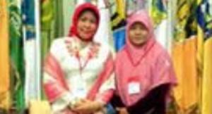 Ibu Negara Iriana Joko Widodo bersama Ketua TP PKK Agam Vita IndraCatri. (ist)