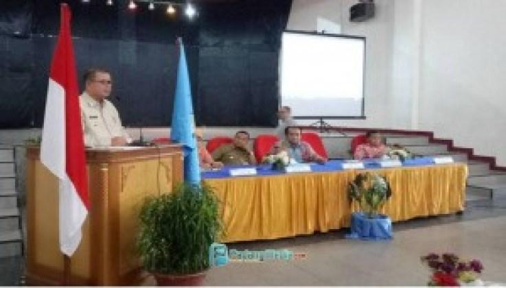 Wagub Nasrul Abit menyampaikan komitmen Pemrpov Sumbar mendukung Sawahlunto menjadi kota Warisan Dunia Unesco. (tumpak)