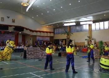 Kejurda barongsai di Padang. (baim)