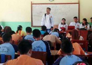 Salah satu kegiatan mahasiswa KKN PPM di Mentawai. (ers)