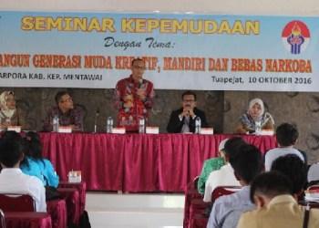 Seminar kepemudaan di Mentawai. (ers)