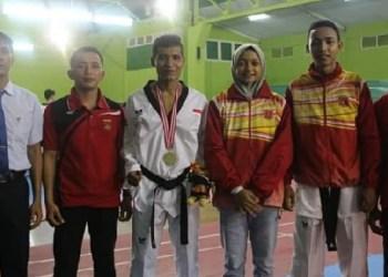 Atlet taekwondo Agam peraih medali di Porprov XIV. (fajar)