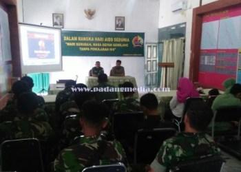 Sosialisasi HIV AIDS bagi prajurit TNI Kodim 0319 Mentawai. (ers)