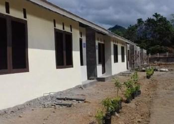 Rumah desakan di program Desaku Menanti dari Kemensos di Pauh, Kota Padang. (der)