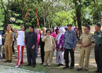 Turnamen bola voli, takraw, futsal dan badminton yang diadakan dalam rangka memperingati Hari kebangkitan Nasional dan Hut Bhayangkara ke 71. (ers)