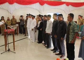 Pelantikan tiga kepala desa di Mentawai. (ers)