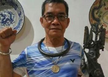 Mantan atlet angkat berat (lifter) pertama dari Indonesia, Nanda Telambanua. (baim)
