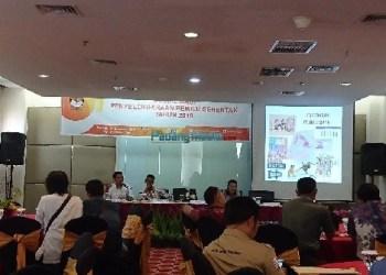 Sosialisasi Tahapan Penyelenggaraan Pemilu Serentak 2019, Senin (11/12). (baim)
