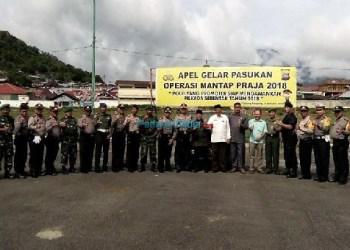 Apel yang dilakukan Polres Padangpanjang menghadapi Pilkada 2018. (foto: humas)
