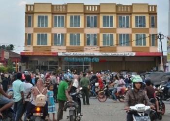 Hotel tempat menginap Presiden Jokowi di Dharmasraya. (foto: humas Setkab)