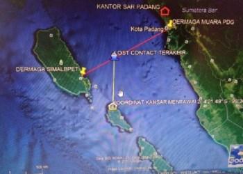 Lokasi diduga hilangnya KM Harapan Bersama. (ers)