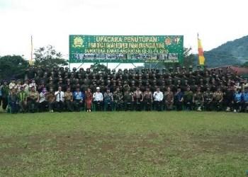 Penutupan Diksar Maharuyung di Padangpanjang. (de)