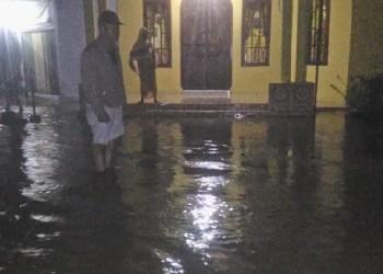 Kondisi banjir di Lubuk Basung, Kab.Agam. (fajar)