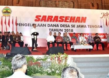 Presiden Jokowi saat menghadiri acara sarasehan di Gedung Pusat Rekreasi dan Promosi Pembangunan (PRPP), Kota Semarang, Kamis, (22/11). (Foto: BPMI)