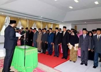 Mutasi pejabat di Pemko Padangpanjang, Senin (29/4/2019). (de)