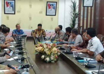 Rapat Persiapan kunjungan Menteri PDTT ke Pesisir Selatan, Kamis (23/7/2020). (Humaspro Pessel)