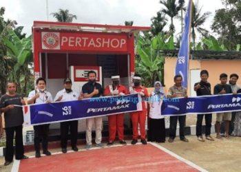 Peresmian operasi Pertashop di Kabupaten Padang Pariaman, Rabu (22/7/2020). (Humas Pertamina MOR I)