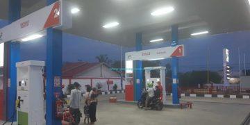 SPBU Kompak di Tua Pejat, Mentawai resmi beroperasi, Senin (8/2/2021). (Pertamina)