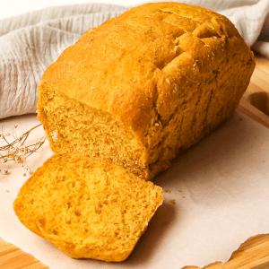 Pão de forma de abóbora