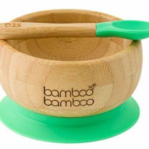 Bowl de bambu com colher