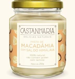 Pasta de macadâmia com sal do himalaia