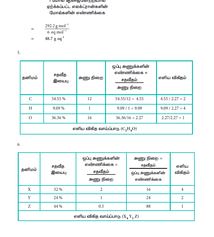 Tamil Medium 11th Standard Chemistry Volume - 1 - tn11thcom 271