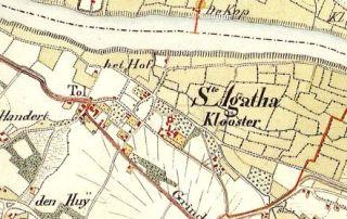 St Agatha - kaart 1838